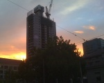 corner of William and LaTrobe, Thursday morning (beautiful dawn sky)