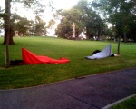 6:42AM, campers in Flagstaff Gardens
